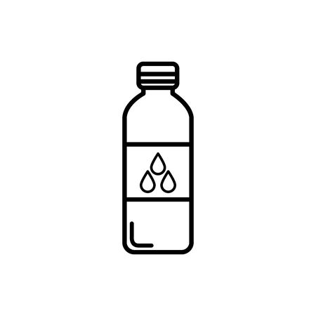 bottle water plastic line style icon vector illustration design