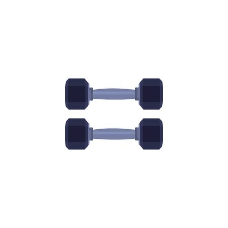 dumbbell equipment gym isolated icon vector illustration design  イラスト・ベクター素材