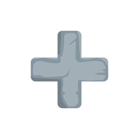 Kreuz katholische religiöse isolierte Symbol Vektor Illustration Design