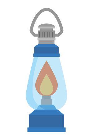 kerosene lantern light isolated icon vector illustration design