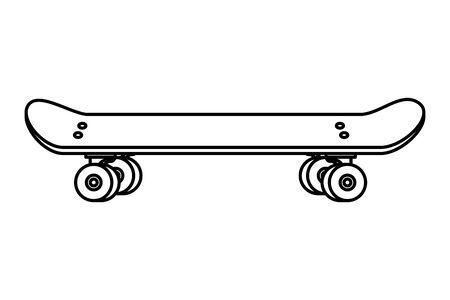 skate board sport element icon vector illustration design