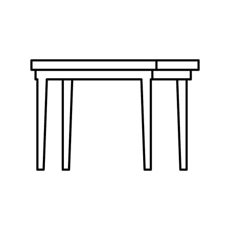 table wooden furniture isolated icon vector illustration design  イラスト・ベクター素材
