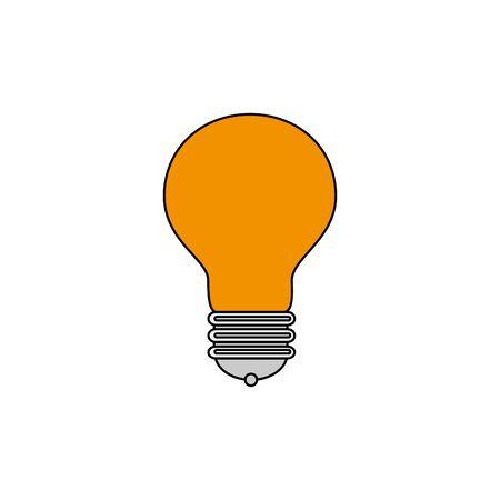 light bulb idea isolated icon vector illustration design
