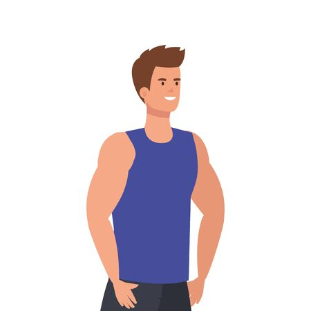 young man athlete avatar character vector illustration design Foto de archivo - 136388795