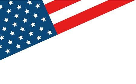 united states flag isolated icon vector illustration design  イラスト・ベクター素材