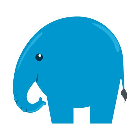 cute little elephant silhouette icon vector illustration design 向量圖像