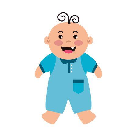 cute little baby boy character vector illustration design Ilustração