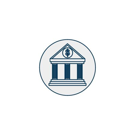 bank structure line style icon vector illustration design