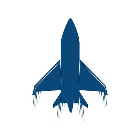 Avión del ejército de los EE. UU., diseño de ilustraciones vectoriales icono aislado