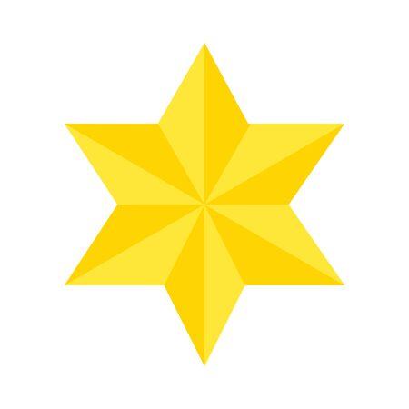 star david symbol isolated icon vector illustration design Vector Illustration