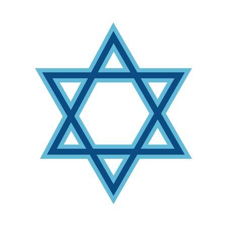 star david symbol isolated icon vector illustration design