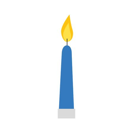 candle light decoration isolated icon vector illustration design  イラスト・ベクター素材