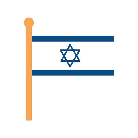 flag israel patriotic isolated icon vector illustration design