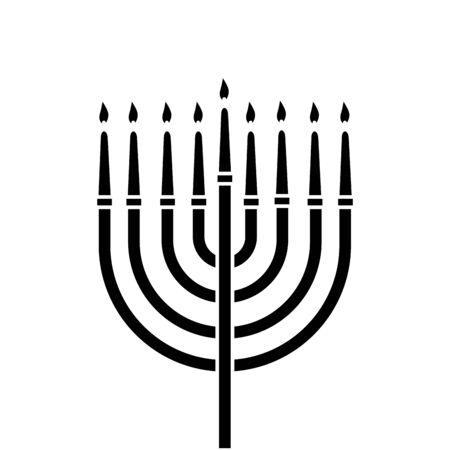 chandelier with candles decoration isolated icon vector illustration design Ilustração