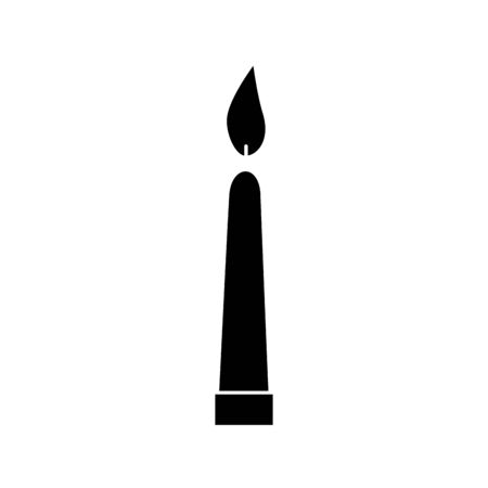 silhouette of candle light decoration isolated icon vector illustration design  イラスト・ベクター素材