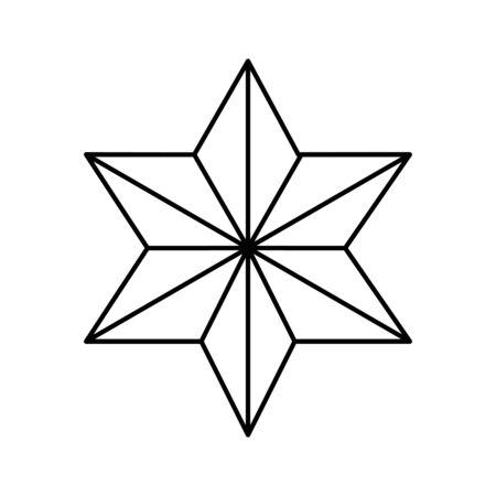 star david line style icon vector illustration design