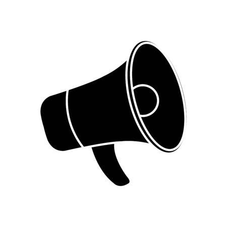Megaphone icon design, Amplifier speaker bullhorn announce speech message communication and sound theme illustration