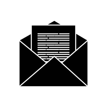 Envelope icon design, Email mail message letter marketing communication card and document theme illustration Иллюстрация