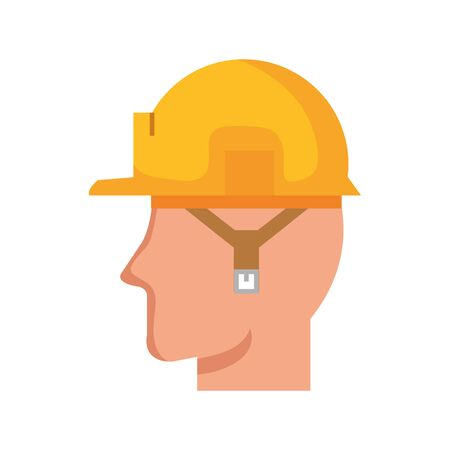 Builder man design, Construction work repair reconstruction industry build and project theme illustration 向量圖像