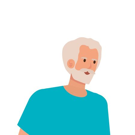 old man elegant avatar character vector illustration design Imagens - 136522137