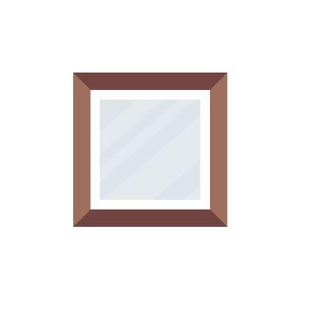 wooden portrait picture isolated icon vector illustration design