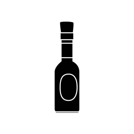 silhouette of delicious sauce in bottle isolated icon vector illustration design Ilustração