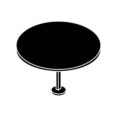 silhouette of table round furniture isolated icon vector illustration design