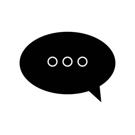 silhouette of speech bubble symbol isolated icon vector illustration design  イラスト・ベクター素材
