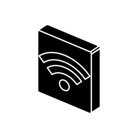 Wifi icon design, Digital technology communication social media internet and web theme Vector illustration  イラスト・ベクター素材