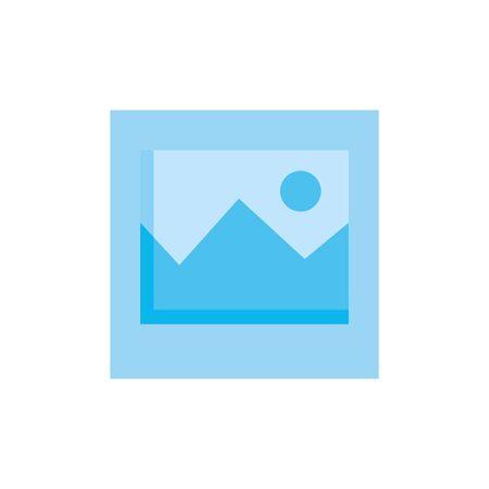 picture file symbol isolated icon vector illustration design Ilustração