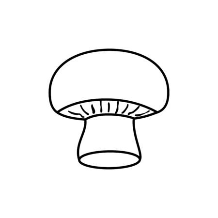 mushroom fresh vegetable line style icon vector illustration design 向量圖像