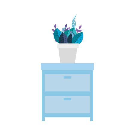 Furniture design, Home room decoration interior modern house and decor theme Vector illustration Ilustração