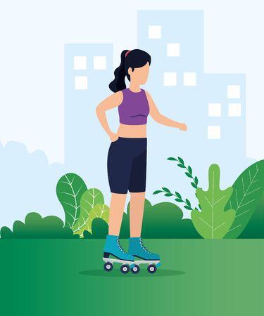 Projekt zdrowego stylu życia, Fitness siłownia Kulturystyka aktywność fizyczna ćwiczenia i dieta temat ilustracji wektorowych