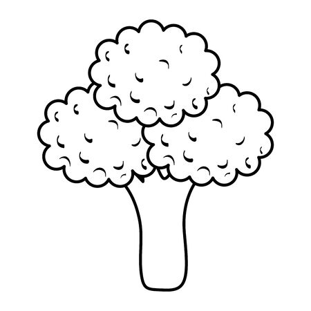 broccoli fresh vegetable healthy icon vector illustration design  イラスト・ベクター素材