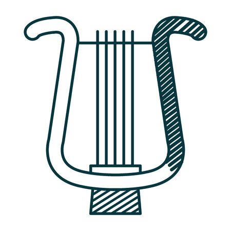 harp musical instrument isolated icon vector illustration design