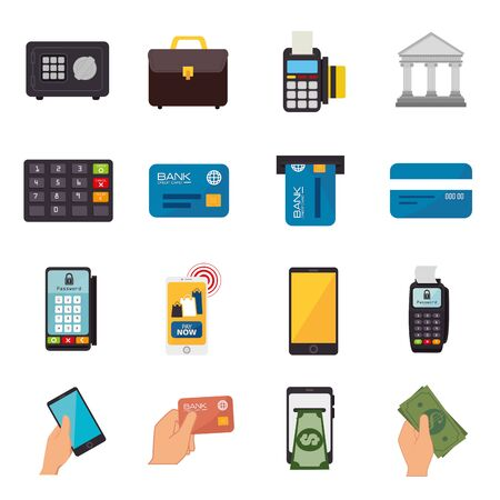 bundle of business set icons vector illustration design Stock Vector - 136678770