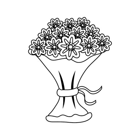 bouquet of flowers icon vector illustration design Ilustração