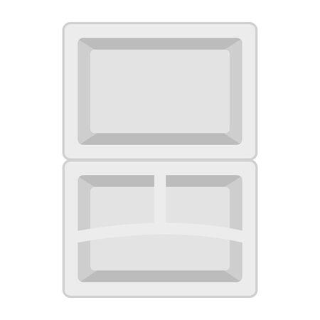 open refrigerator door empty vector illustration design