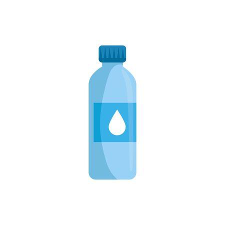 bottle water plastic isolated icon vector illustration design Illustration