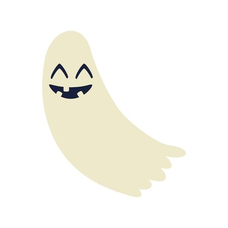 halloween ghost mystery isolated icon vector illustration design Ilustração