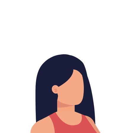beautiful and young woman character vector illustration design Ilustração