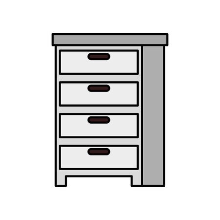 wooden drawer forniture isolated icon vector illustration design Stockfoto - 136752754
