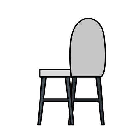 chair furniture equipment isolated icon vector illustration design Ilustração