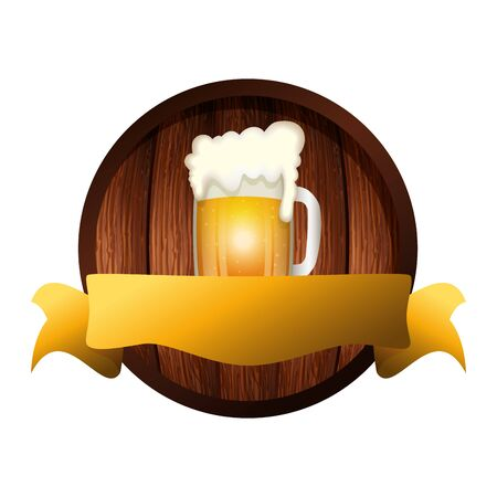 Beer mug design, Pub alcohol bar brewery drink ale and lager theme Vector illustration