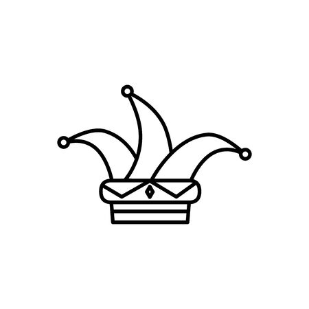 Hat joker icône isolé fantastique conception d'illustration vectorielle