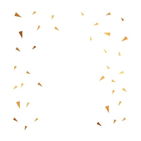 background of party confetti golden isolated icon vector illustration design