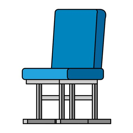 waiting room chair isolated icon vector illustration design