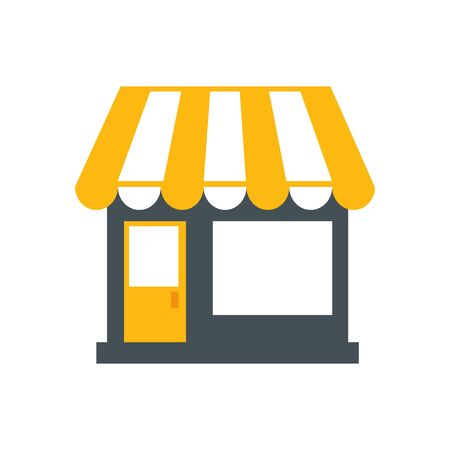 store facade structure isolated icon vector illustration design