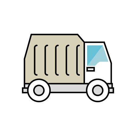 truck collector trash isolated icon vector illustration design