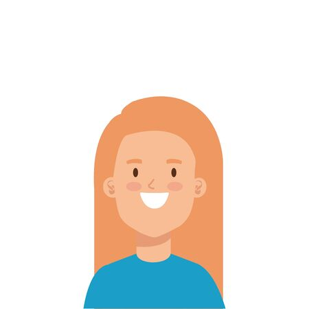 beautiful woman with blonde hair character vector illustration design Standard-Bild - 136844022